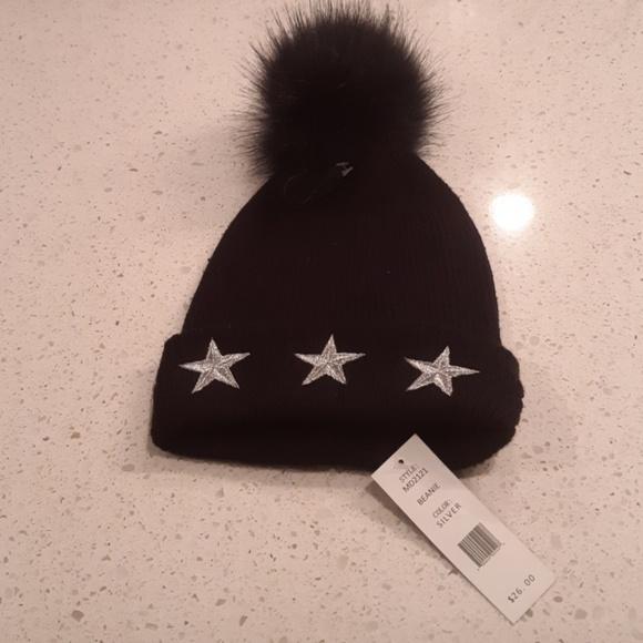 NWT Madden NYC Womens Black Beanie Hat 84b49db060